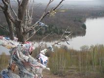 Lugar santo, montaña santa, bosque y río fotos de archivo libres de regalías