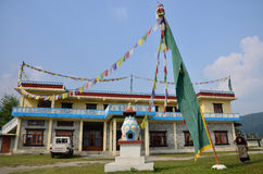 Lugar tibetano do acampamento de refugiados fora de Pokhara Foto de Stock