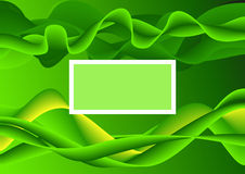 Lugar verde abstracto del texto del extremo del fondo Stock de ilustración