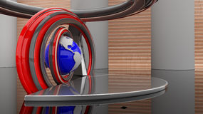 Lugar virtual da exposição da sala da mostra ilustração stock