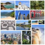 Lugares de Brasil Imagem de Stock Royalty Free