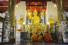 Lugares de culto e arte do templo de Tailândia Foto de Stock