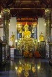 Lugares de culto e arte do templo de Tailândia Fotografia de Stock Royalty Free