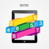 Lugares de la tableta del vector Imagen de archivo libre de regalías