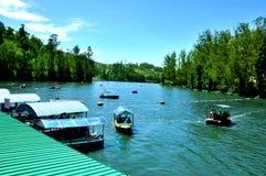Lugares do lago e do esporte de barco fotografia de stock