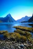 Lugares do paraíso em Nova Zelândia/lago Teanua/Milford Sound Fotos de Stock Royalty Free