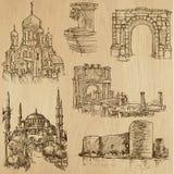 Lugares e no. famosos 21 das construções ilustração royalty free
