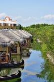 Lugares en el centro turístico Fotos de archivo libres de regalías