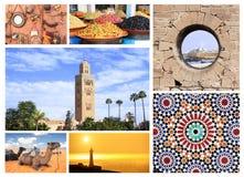 Lugares famosos de Marruecos imagen de archivo
