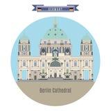 Lugares famosos en Alemania: Berlin Cathedral ilustración del vector