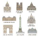Lugares famosos parís ilustración del vector