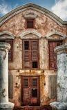 Lugares perdidos - chalet en Curaçao imagen de archivo