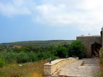 Lugares santos del monasterio de Creta-Arsani foto de archivo