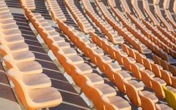 Lugares vazios no estádio de futebol Imagens de Stock Royalty Free