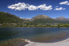 Lugarno on the border between Switzerland and Italy Royalty Free Stock Images