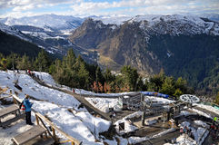 Luge Chairlift, Queenstown, New Zealand Royalty Free Stock Photography