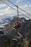Luge Chairlift, Queenstown, New Zealand Royalty Free Stock Images