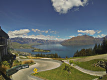 Luge, Queenstown, New Zealand. Luge track in Queenstown New Zealand stock images