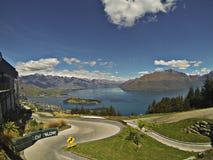 Luge Queenstown, Nya Zeeland Arkivbilder