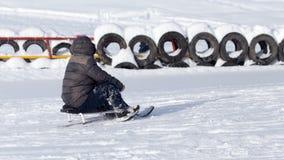 Luge sledding Stock Image