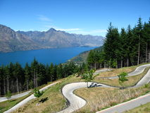 Luge track, Queenstown, NZ royalty free stock photo