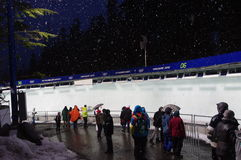 Luge at Whistler Sliding Center royalty free stock photography