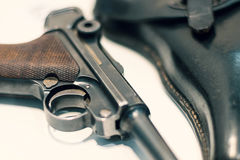 Luger P08 Parabellum handgun. Royalty Free Stock Photos