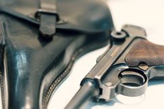Luger P08 Parabellum handgun. Royalty Free Stock Photo