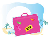 Luggage. Going to exotic vacation! Vector suitcase – you should easy to change color and size Royalty Free Stock Image