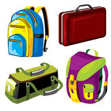 Luggage. Set of  images of bags and backpacks luggage Stock Images