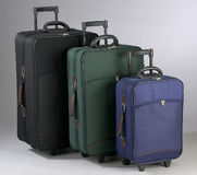 Luggage. Three different sizes of luggage Stock Images