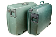 Luggage. Two travel suitcases ready for vacation trip Royalty Free Stock Images