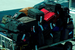 Luggage. A cart filled with luggage Royalty Free Stock Photography