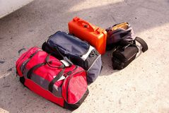 Luggage. The luggage to make a journey Royalty Free Stock Images