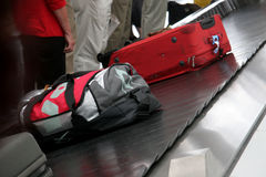 Luggage. At the munic airport Royalty Free Stock Image