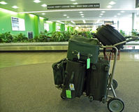 Luggage at the Airport Royalty Free Stock Photography