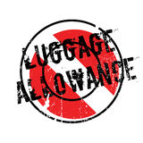 Luggage Allowance rubber stamp. Grunge design with dust scratches. Effects can be easily removed for a clean, crisp look. Color is easily changed Royalty Free Stock Images