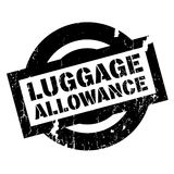 Luggage Allowance rubber stamp. Grunge design with dust scratches. Effects can be easily removed for a clean, crisp look. Color is easily changed Stock Photography