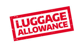 Luggage Allowance rubber stamp. Grunge design with dust scratches. Effects can be easily removed for a clean, crisp look. Color is easily changed Stock Image