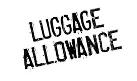 Luggage Allowance rubber stamp. Grunge design with dust scratches. Effects can be easily removed for a clean, crisp look. Color is easily changed Stock Photo