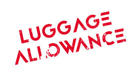Luggage Allowance rubber stamp. Grunge design with dust scratches. Effects can be easily removed for a clean, crisp look. Color is easily changed Royalty Free Stock Photos