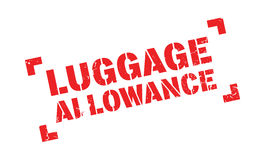 Luggage Allowance rubber stamp. Grunge design with dust scratches. Effects can be easily removed for a clean, crisp look. Color is easily changed Royalty Free Stock Photography
