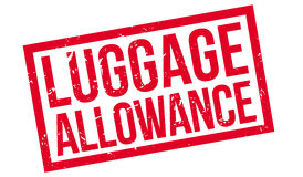 Luggage Allowance rubber stamp. On white. Print, impress, overprint Stock Photography