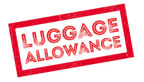 Luggage Allowance rubber stamp. On white. Print, impress, overprint Royalty Free Stock Image