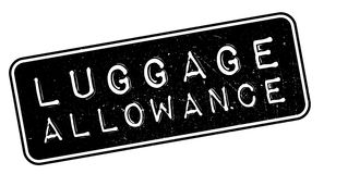 Luggage Allowance rubber stamp. On white. Print, impress, overprint Stock Image