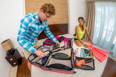 Luggage And People Concept Royalty Free Stock Photos
