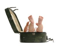 Luggage baby Stock Photo