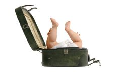 Luggage baby Stock Images