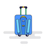 Luggage bag with wheels Royalty Free Stock Photography