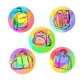 Luggage bags Royalty Free Stock Photos